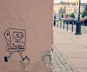 city, spongebob, and street image