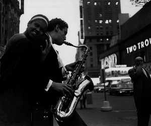 jazz, new york, and old image
