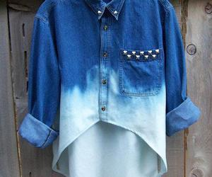 fashion, shirt, and blue image