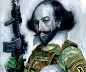 shakespeare, painting, and skull image