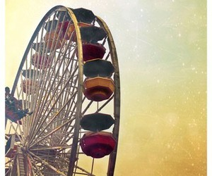 sky, carnival, and ferris wheel image