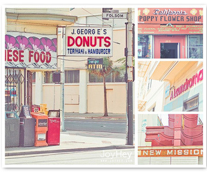art, california, and color image