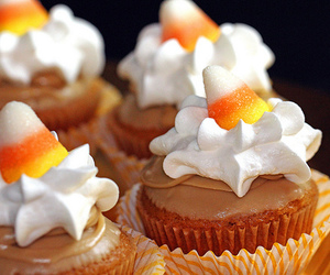 candy corn and cupcakes image