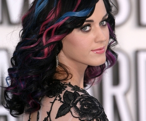 katy perry, blue, and hair image