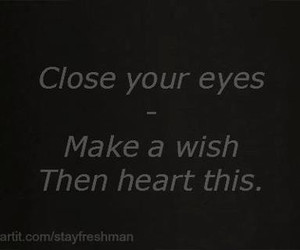 heart, text, and wish image