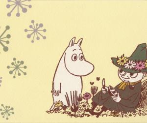 moomins, postcard, and moomin image