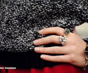 accesories, girl, and rings image