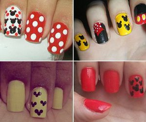 esmalte, mickey, and nail image
