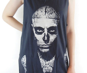 zombie boy, shirt, and rick genest image