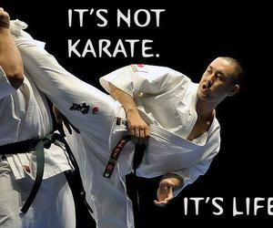 karate, sport, and thin image