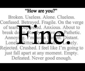 fine, sad, and broken image