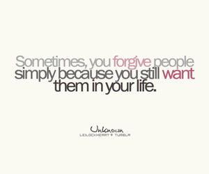 text, love, and forgive image