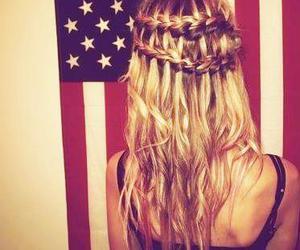 hair, girl, and usa image