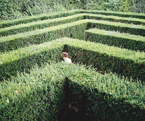 green, labyrinth, and maze image