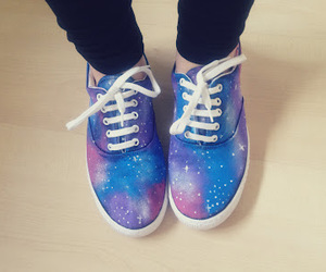 galaxy, shoes, and vans image