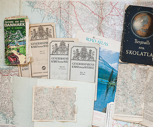 map, travel, and vintage image