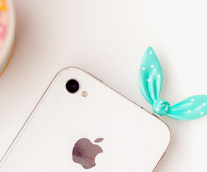 cute, iphone, and white image