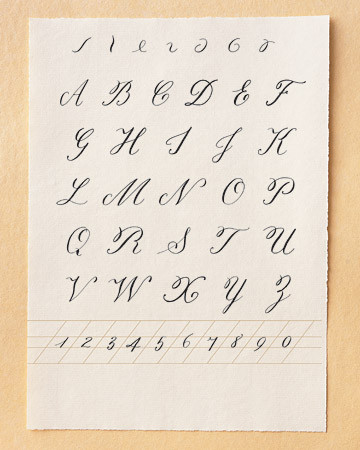Capital Calligraphy Letters And Numerals