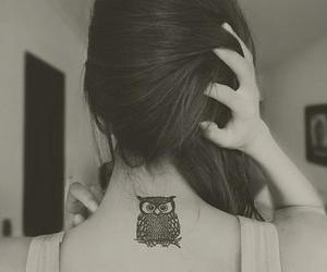 tattoo, owl, and hair image