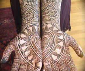 henna, hands, and tattoo image