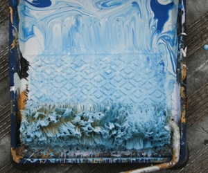 paint, blue, and art image