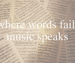 music, words, and quote image