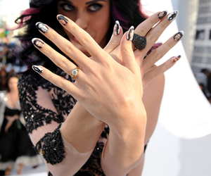 katy perry, nails, and russel brand image