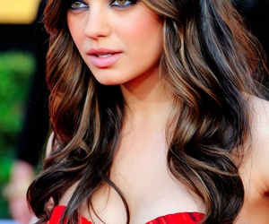 Mila Kunis, beautiful, and hair image