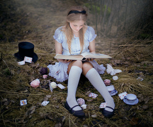 alice, girl, and book image