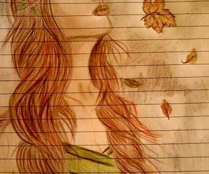autumn, brown, and drawing image