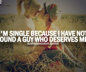 single, quote, and love image