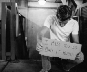 boy, miss, and hurt image