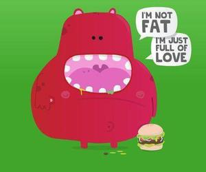 fat, cute, and love image