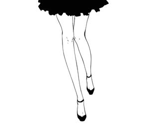 girl, anime, and black image