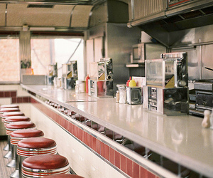 vintage, diner, and restaurant image