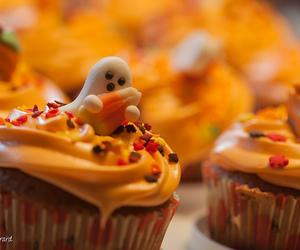 cupcake, Halloween, and ghost image