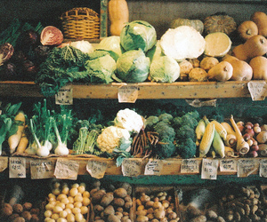 vegetables, food, and vintage image