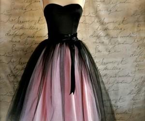 dress, pink, and black image