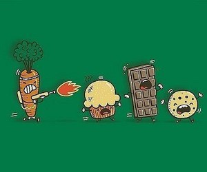carrot, chocolate, and cookie image