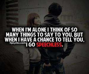 speechless, love, and text image