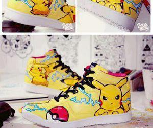pikachu, shoes, and cool image