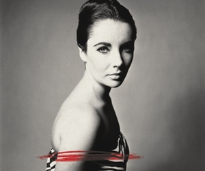 Elizabeth Taylor, black and white, and richard avedon image