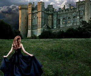 castle, dark, and girl image