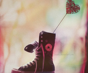all star, converse, and heart image