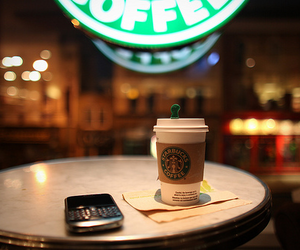 starbucks, coffee, and blackberry image