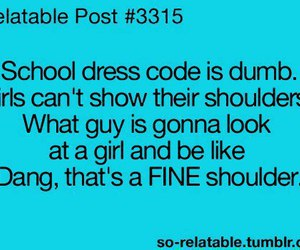 funny, school, and dress code image
