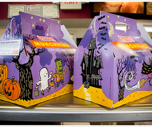 Halloween and dunkin donuts image