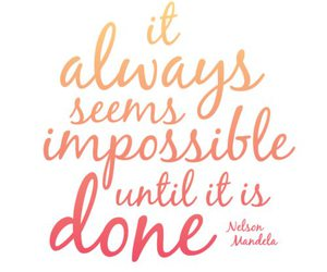 quote, impossible, and done image