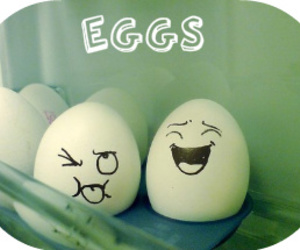 cute and eggs image
