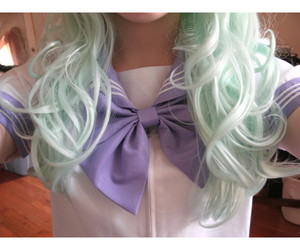 bow, hair, and pastel image